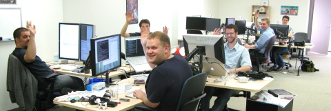 My Mozilla Toronto office colleagues wave at the blogosphere