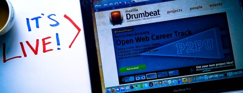 picture of drumbeat website front page
