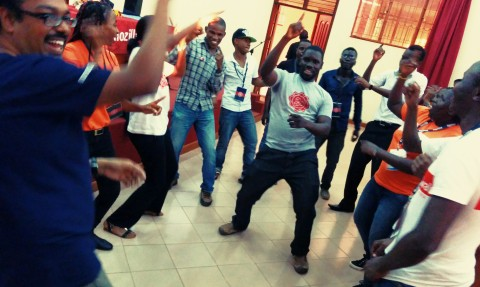Celebrating at MozFest East Africa